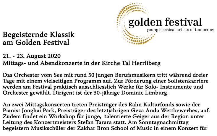 Begeisternde Klassik am Golden Festival